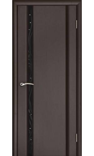 Ульяновские двери Regidoors Эксклюзив 1 натуральный шпон венге черное стекло