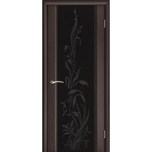 Ульяновские двери Regidoors Эксклюзив 2 натуральный шпон венге черное стекло