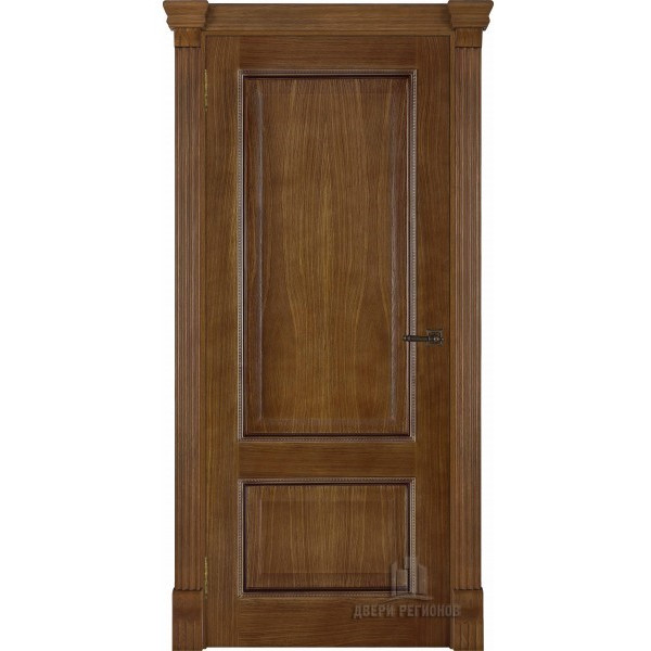 Ульяновские двери Regidoors Гранд 1 натуральный шпон дуб патина антико глухое
