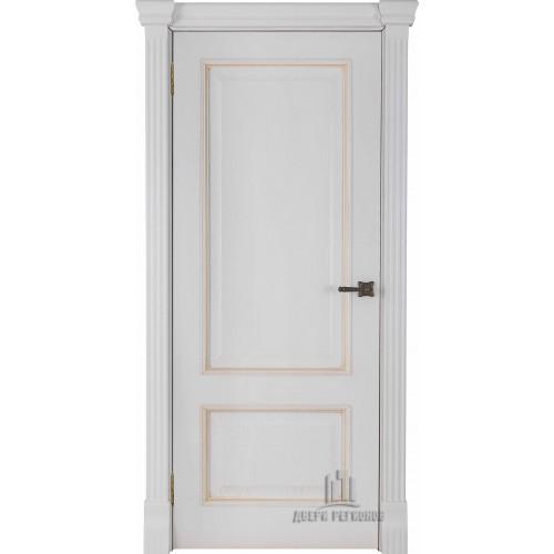 Ульяновские двери Regidoors Гранд 1 натуральный шпон дуб патина бьянка глухое