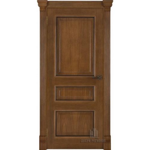 Ульяновские двери Regidoors Гранд 2 натуральный шпон дуб патина антико глухое