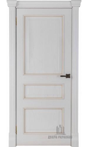 Ульяновские двери Regidoors Гранд 2 натуральный шпон дуб патина бьянка глухое