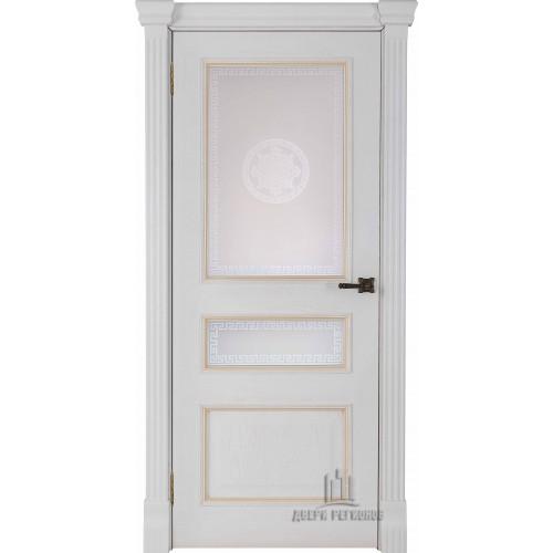 Ульяновские двери Regidoors Гранд 2 натуральный шпон дуб патина бьянка остекленное на Заказ