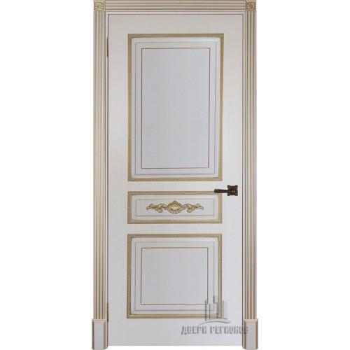 Ульяновские двери Regidoors Лацио дверь эмаль слоновая кость с патиной золото глухое