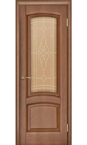 Ульяновские двери Regidoors Лаура натуральный шпон анегри темный тон 74 остекленное