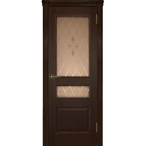 Ульяновские двери Regidoors Милан шпон натуральный орех тон 2 остекленное