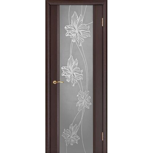 Ульяновские двери Regidoors Стелла 2 натуральный шпон венге с зеркалом