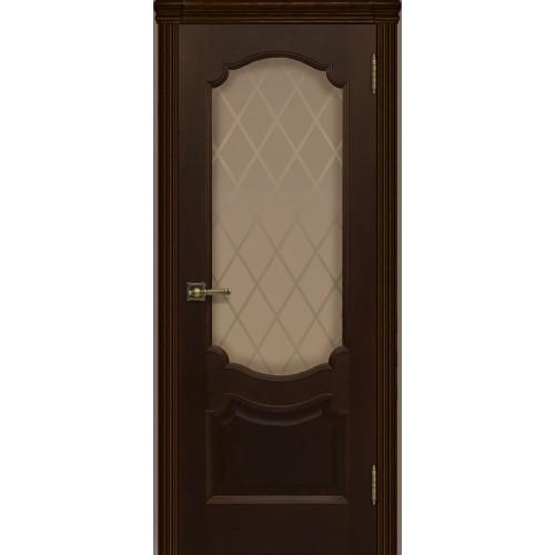 Ульяновские двери Регионов Монако шпон натуральный орех тон 2 остекленное