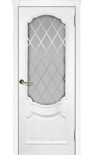 Ульяновские двери Регионов Монако шпон натуральный ясень жемчуг остекленное