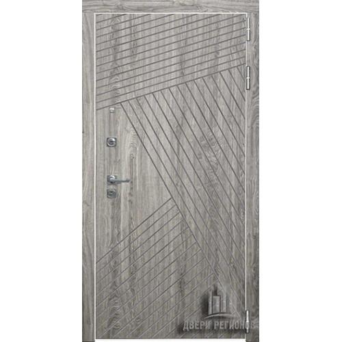 Дверь входная Nova, цвет дуб мелфорд грей софт, белая панель - nova цвет кантри горизонт