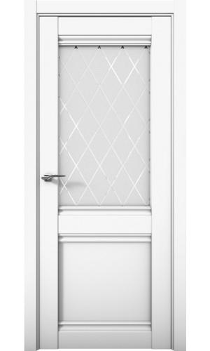 Дверь Cobalt 12 Кобальт белый матовый остекленная