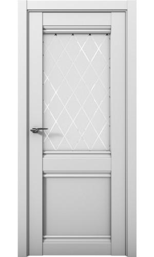 Дверь Cobalt 12 Кобальт серый матовый остекленная