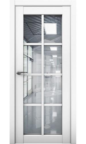 Дверь Cobalt 22 Кобальт белая (аляска) стекло рефлект