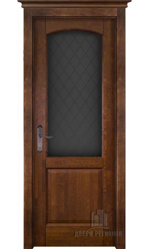 Белорусские двери из массива ольхи Фоборг античный орех остекленное