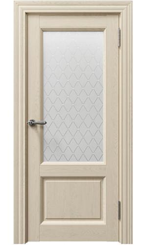 Дверь Сорренто 80010 Sorrento 80010 Серена керамик остекленная -