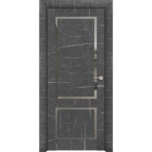 Дверь Neo Loft 301 Marable Soft Touch Торос Графит Остекленная