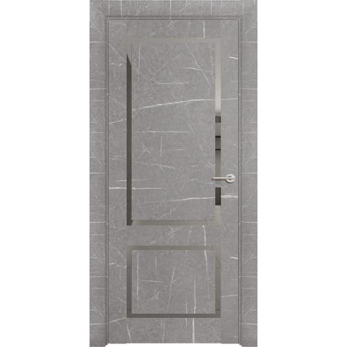 Дверь Neo Loft 301 Marable Soft Touch Торос Серый Остекленная