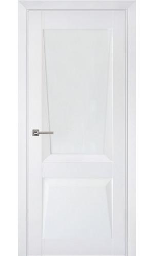 Дверь межкомнатная Перфекто 106 Белый бархат Остекленная