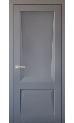 Дверь межкомнатная Перфекто 106 Серый бархат Остекленная