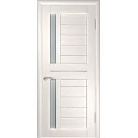 Дверь экошпон межкомнатная со стеклом ЛУ 27 беленый дуб