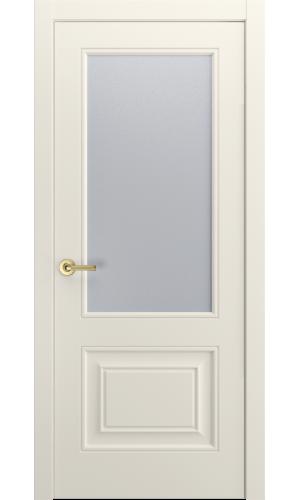 Версаль-1Ф Ульяновские двери эмаль RAL 9010 слоновая кость остекленная