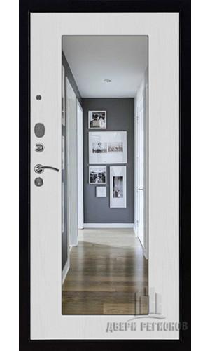 Панель для входной двери Зеркало обрамление сандал светлый -