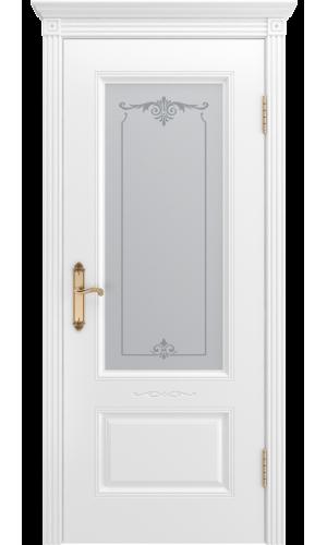 Дверь Аккорд В1 белая эмаль  остекленное - Межкомнатные двери