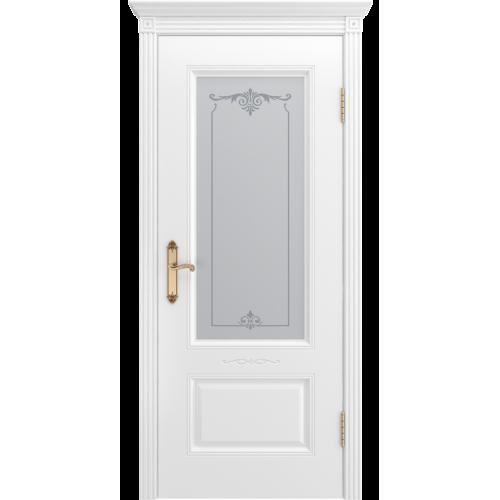 Дверь Аккорд В1 белая эмаль  остекленное