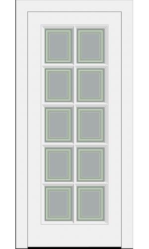 Дверь Прованс PROVENCE 10  с раскладкой белая остекленная -