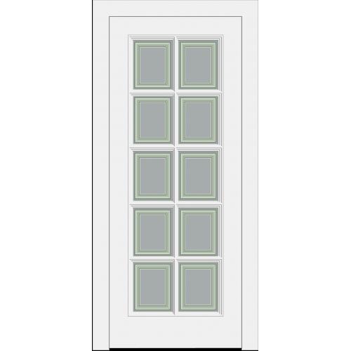 Дверь Прованс PROVENCE 10  с раскладкой белая остекленная