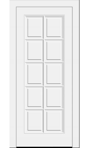 Дверь Прованс PROVENCE 10  с раскладкой белая глухая -