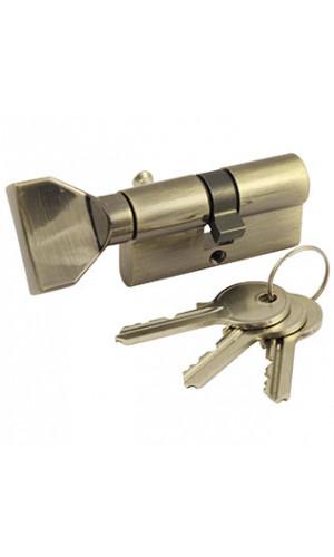 Ключевой цилиндр ключ-вертушка цвет бронза/кофе