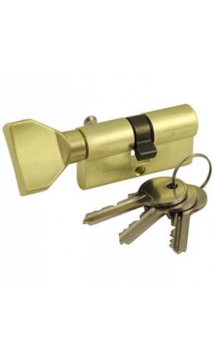 Ключевой цилиндр ключ-вертушка цвет золото