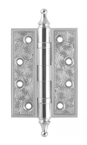 Петля латунная Armadillo (Армадилло) Castillo CL 500-A4 102x76x3,5 SILVER-925 Серебро 925 1шт