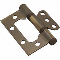 Петля без врезки стальная 100x2,5 AB (бронза)