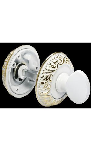 Завертка сантехническая BK10WG цвет: белый/золото
