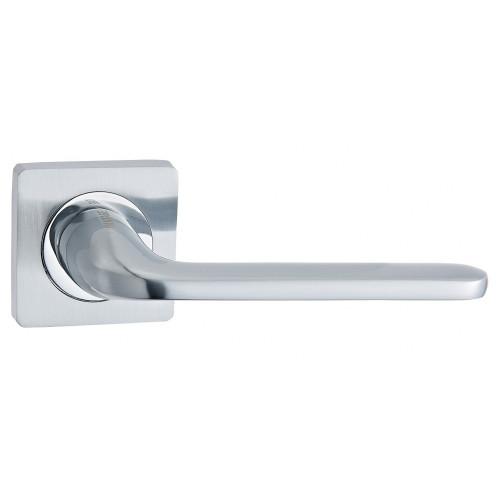 Дверная ручка V13L матовый хром