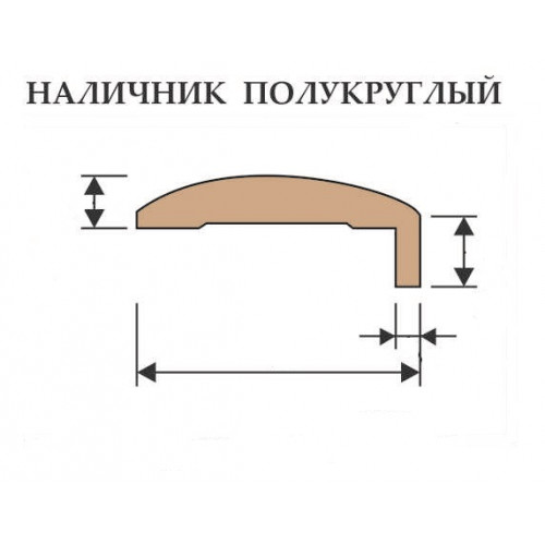 """Наличник """"Т"""" Gracia полукруглый анегри"""