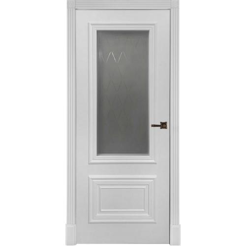 Белая дверь эмаль Престиж 1/2 остекленная Ульяновские двери