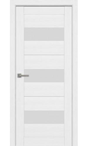Дверь межкомнатная Модель 04 Эко Белый Остекленная