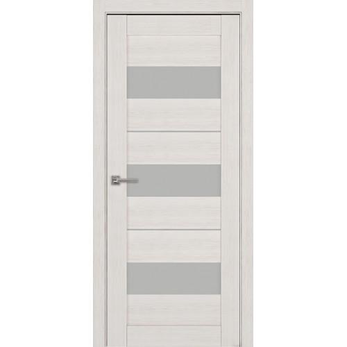 Дверь межкомнатная Модель 04 Эко Дуб жемчуг Остекленная