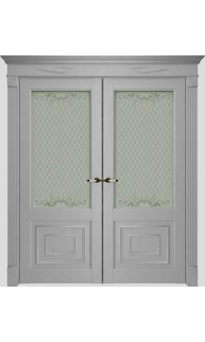 Двойные двери межкомнатные экошпон 62002 Серена Светло Серый