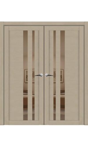 Двустворчатые распашные двери UniLine 30008 Soft Touch Кремовый