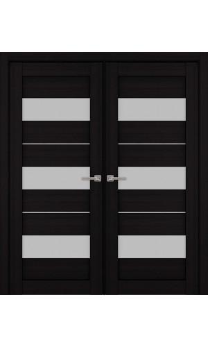 Двустворчатые распашные двери экошпон цвет венге модель 04