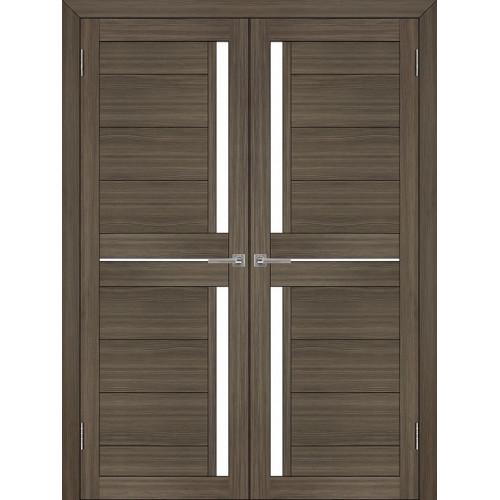 Двустворчатые распашные двери экошпон Light 2121 графит велюр