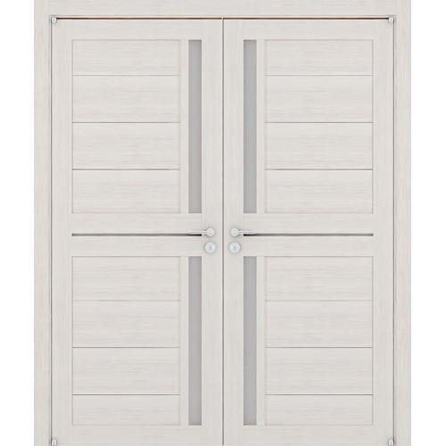 Двустворчатые распашные двери экошпон  Light 2121 капучино велюр