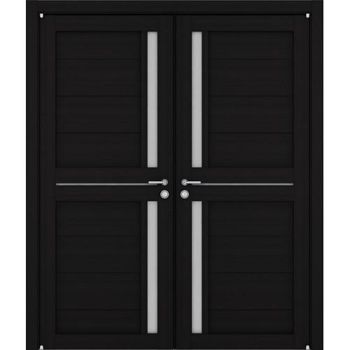 Двустворчатые распашные двери экошпон Light 2121 шоко велюр
