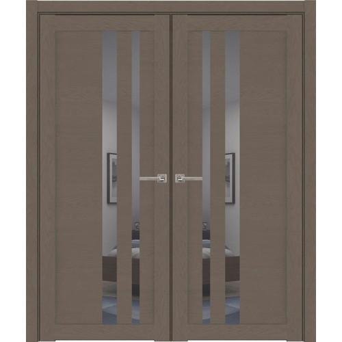 Двустворчатые распашные двери UniLine 30008 Soft Touch Тортора