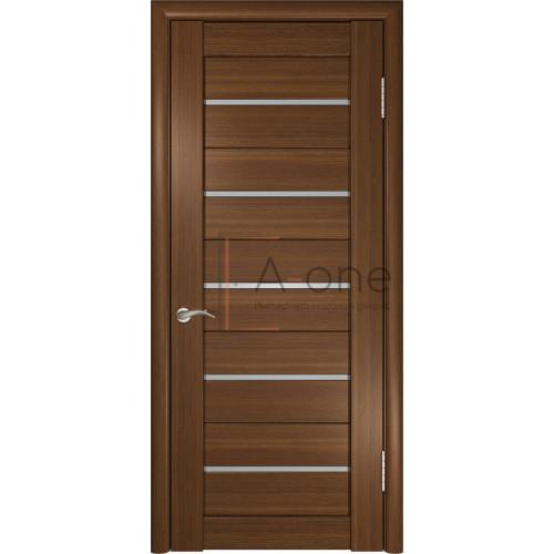 Дверь экошпон межкомнатная со стеклом ЛУ 22 темный орех