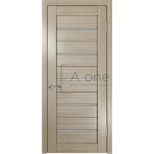 Дверь экошпон межкомнатная со стеклом ЛУ 22 дуб неаполь